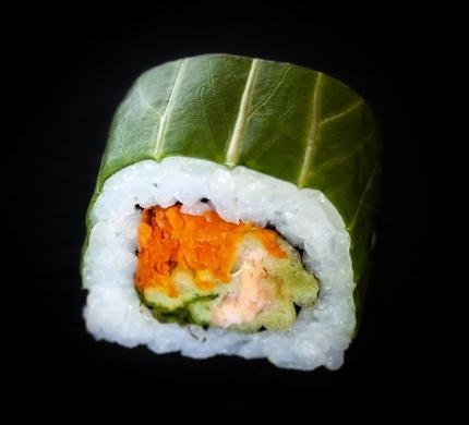 Salmon in wasabi coat
