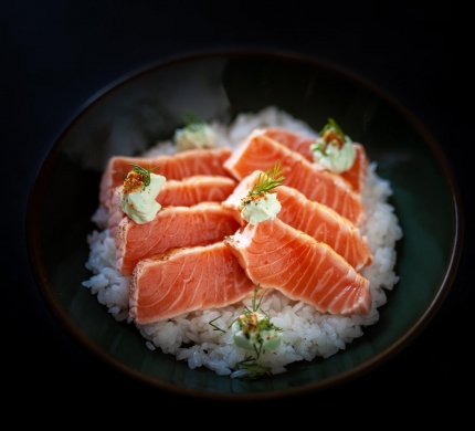 Chirashi Tataki Salmon