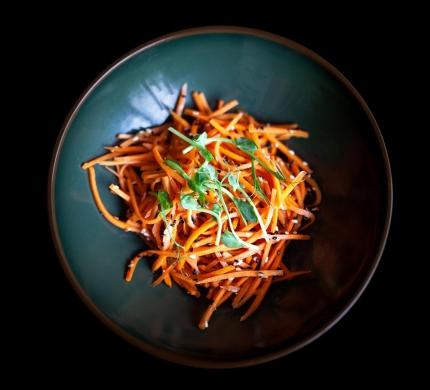 Asijský mrkvový salát